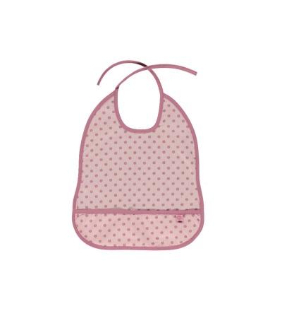 Smafolk Baby Latz Lätzchen abwaschbar Sliver Pink GOTS
