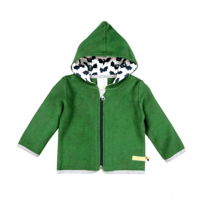 LOUD PROUD Baby Jacke Fleece Grün