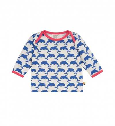 LOUD PROUD Baby Langarm-Shirt Delfine pacific BIO Baumwolle kbA