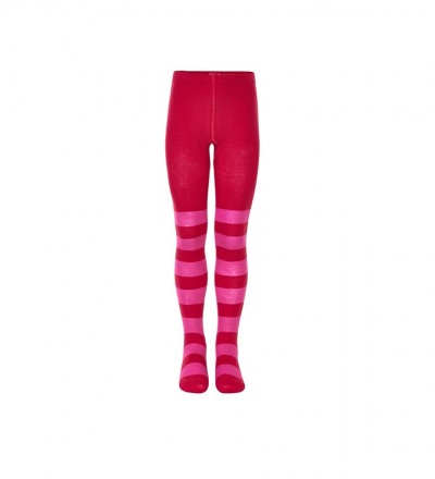 Mala Mädchen Strumpfhose rot/pink Blockstreifen