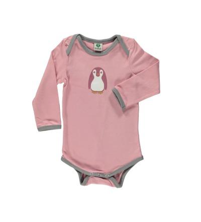 Smafolk Baby Body Langarm Baby Pinguin Birdal Rose - Die Baby Pingine-Design-Serie wurde von Smafolk in Kooperation mit der Zeitschrift Eltern entwickelt.