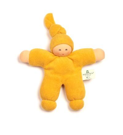 NANCHEN NATUR Puppe Pimpel gelb Bio Baumwolle, öko Made in Germany