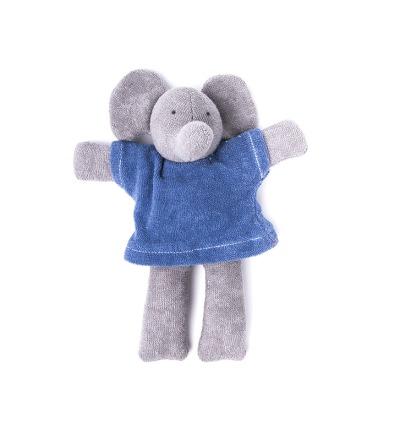 NANCHEN NATUR Ele Elefant blau Bio Made in Germany - Made in Germany