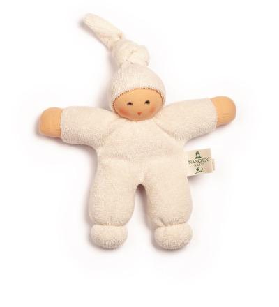 NANCHEN NATUR Puppe Pimpel weiss Bio