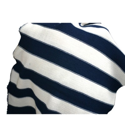 REIFF STRICK / Baby Wickeltuch Babydecke marine/natur 100 Schurwolle kbT für Babys und Kinder 80 x 90cm - Made in Germany
