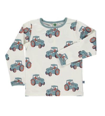 SMAFOLK Shirt l/s rosa mit Traktor