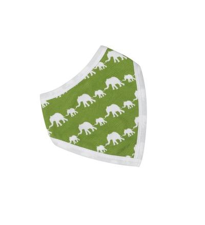 PIGEON Babyhalstuch Wendehalstuch BIO Baumwolle Elefant grün Lätzchen