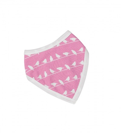 PIGEON Babyhalstuch Wendehalstuch BIO Baumwolle Vögel rosa Lätzchen