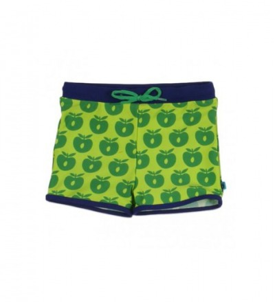 SMAFOLK Kinder Badehose grün Äpfel 86-92