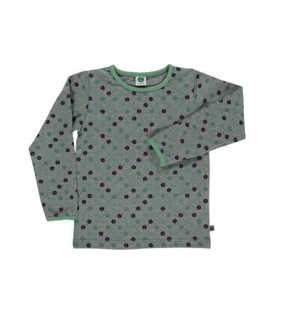 SMAFOLK Kinder Shirt mit mini Apfel grün Longsleeve