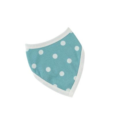 PIGEON Babyhalstuch Wendehalstuch BIO Baumwolle Tupfen blau Lätzchen