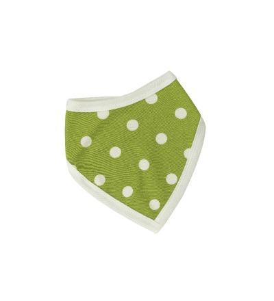 PIGEON Babyhalstuch Wendehalstuch BIO Baumwolle Tupfen grün Lätzchen
