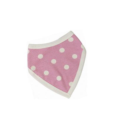 PIGEON Babyhalstuch Wendehalstuch BIO Baumwolle Tupfen rosa Lätzchen