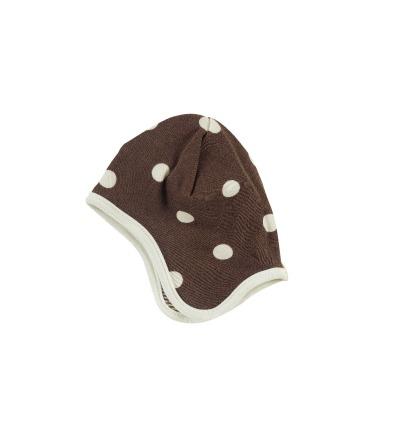 PIGEON Babymütze Wendemütze Tupfen braun Bio Baumwolle