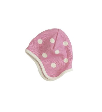 PIGEON Babymütze Wendemütze Tupfen rosa Bio