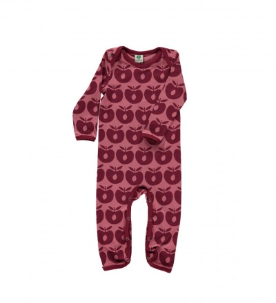 Smafolk Baby Strampler Spieler Jumpsuit Äpfel Mesa Rose