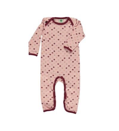 Smafolk Baby Strampler Spieler Jumpsuit mini Äpfel Silver Pink