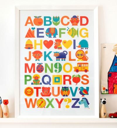 BY GRAZIELA Kinder ABC Poster 50 x 70 cm