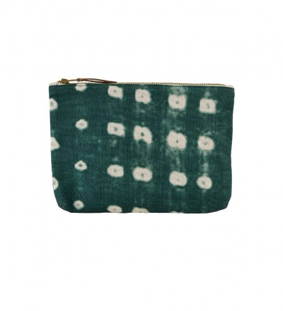 HOUSE DOCTOR Cosmetic bag Dots green 23x16 cm