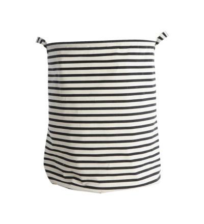 HOUSE DOCTOR Laundry bag, Stripes, Schwarz dia.: 40 cm, h.: 50 cm