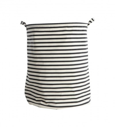 HOUSE DOCTOR Laundry bag, Stripes, Schwarz dia.: 40 cm, h.: 50 cm