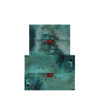 HOUSE DOCTOR Aufbewahrung Schachtel-Set hoch Earth
