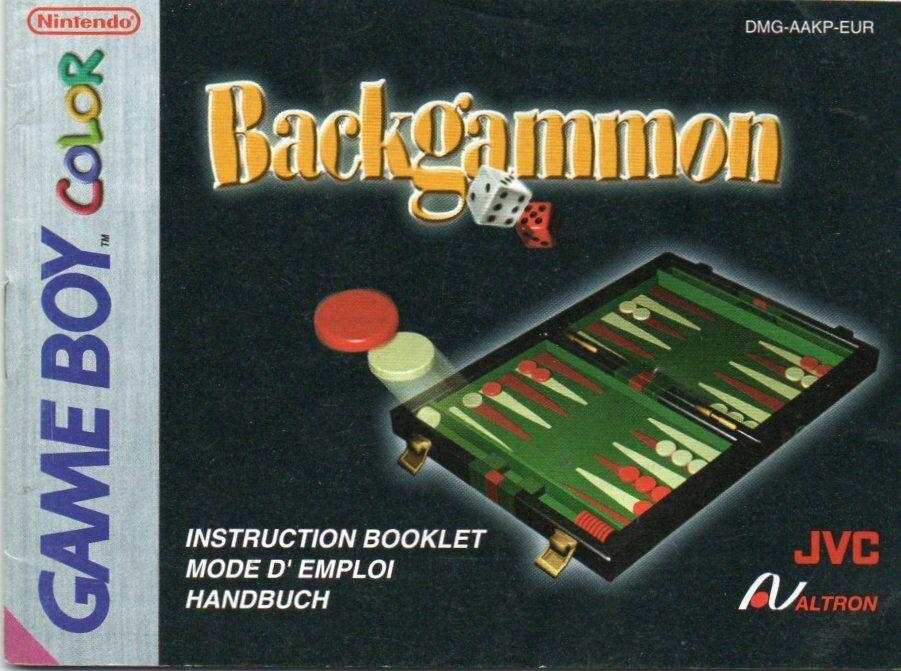 Backgammon Anweisung / Spielanleitung / Handbuch - Game Boy Color - 1