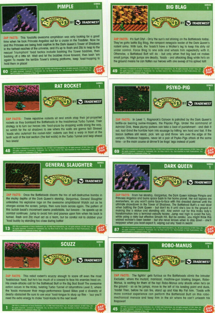 Battletoads - Trading Cards 2