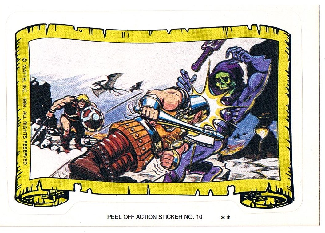 Ram Man vs Skeletor Sticker von