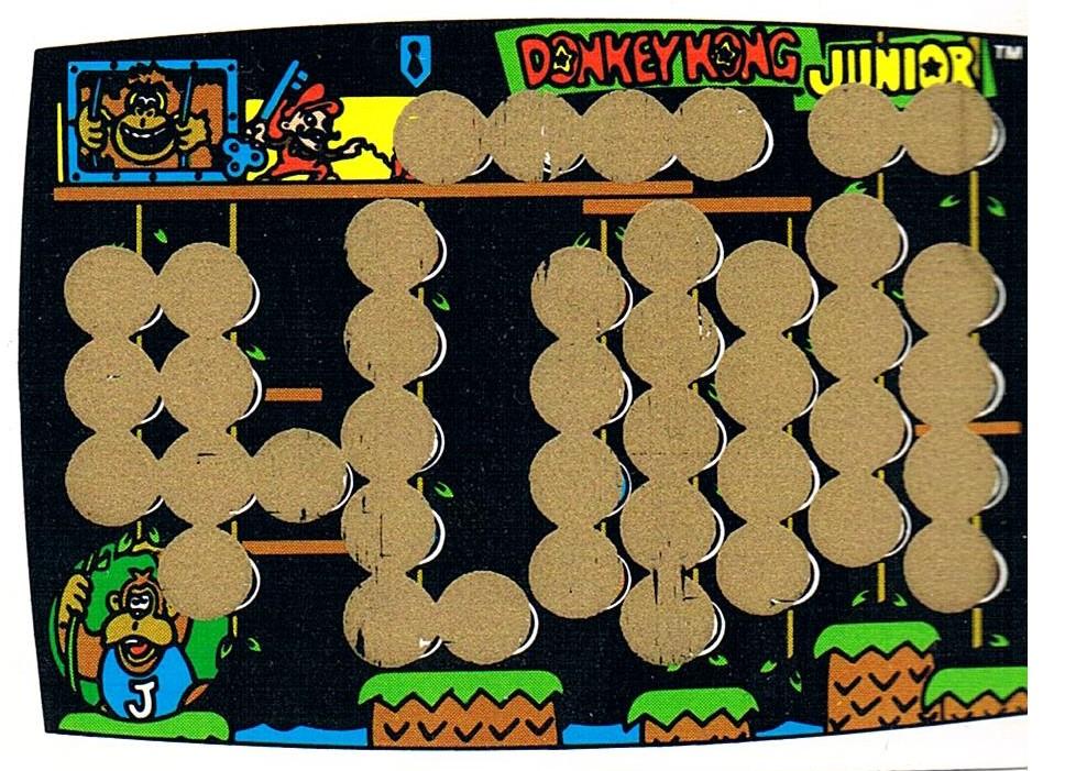 DONKEY KONG JR Rubbelkarte Rub-Off Card