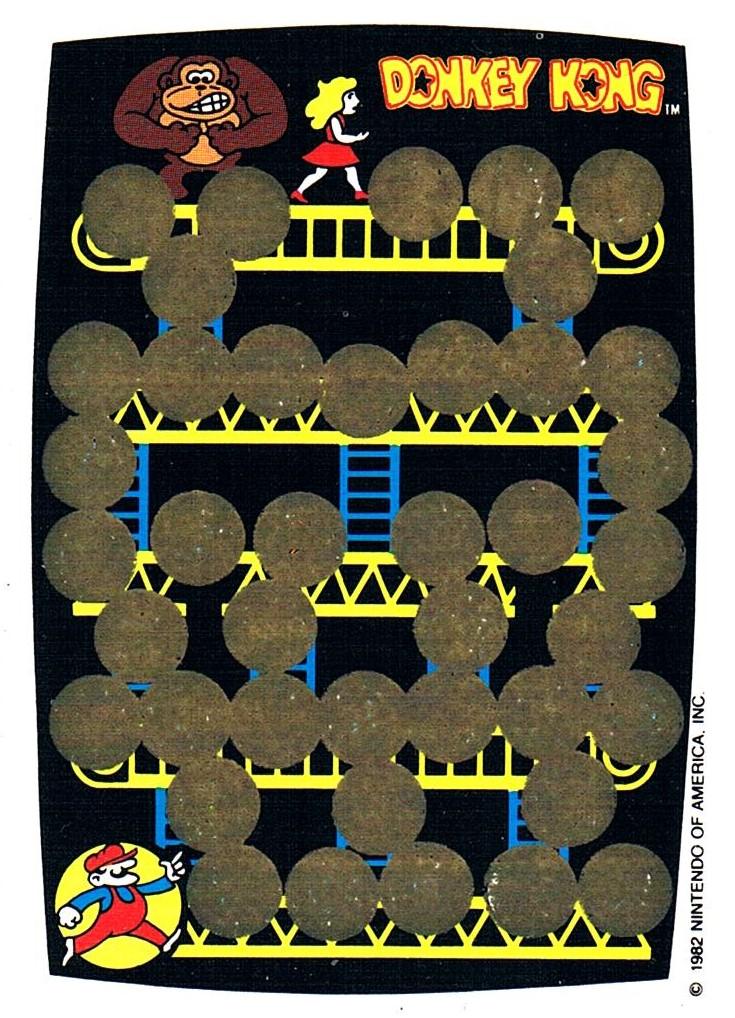DONKEY KONG Rubbelkarte Rub-Off Card Nintendo - 1