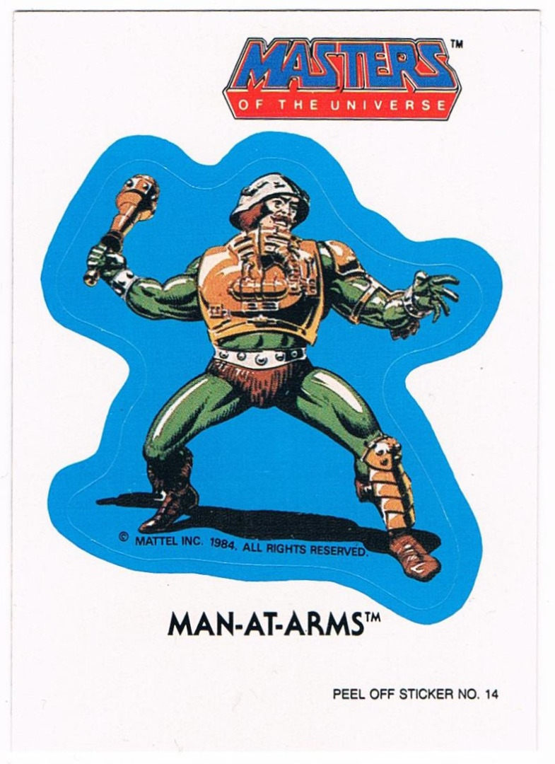 Man-At-Arms Sticker von Topps