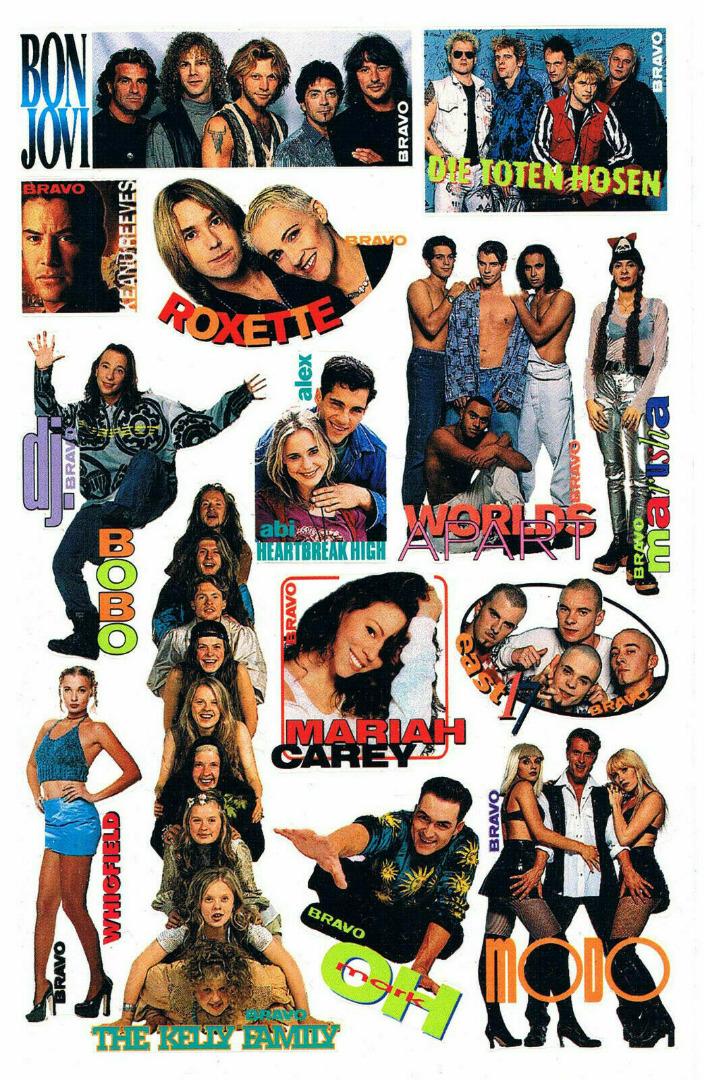 Bravo Sticker aus den 90ern