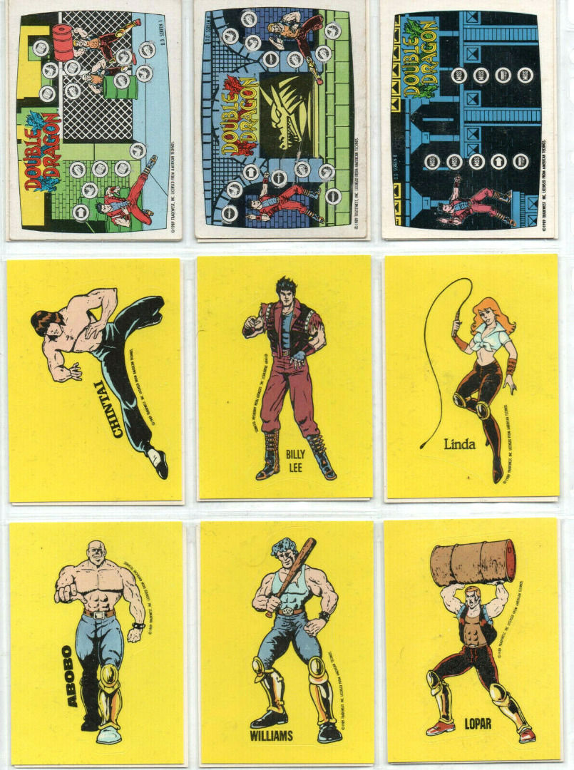 Double Dragon - 18 Trading Cards
