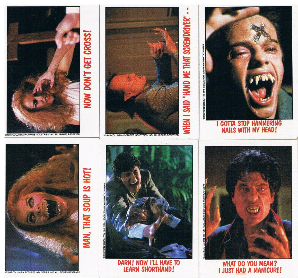 Fright Night 6x Trading Cards Sammelkarten