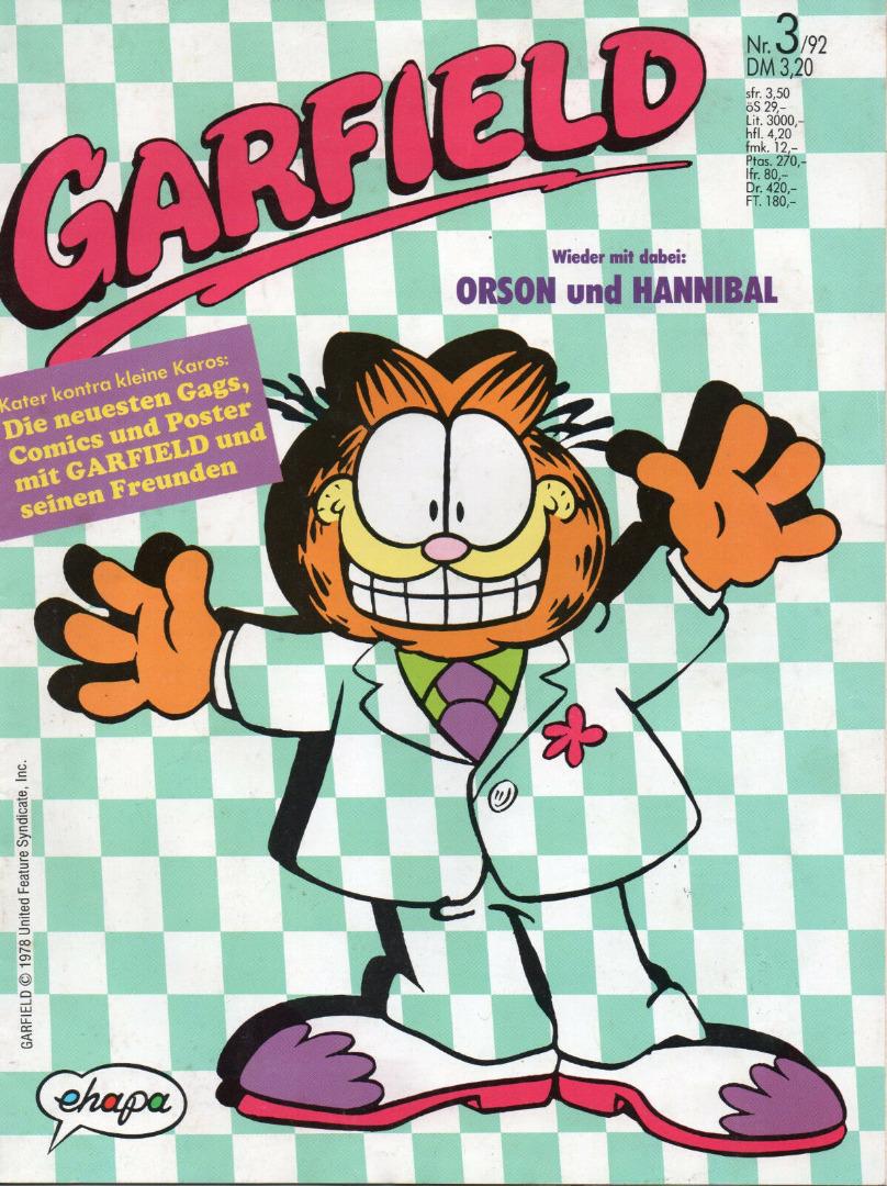 Garfield Comic - Heft Ausgabe 3-92