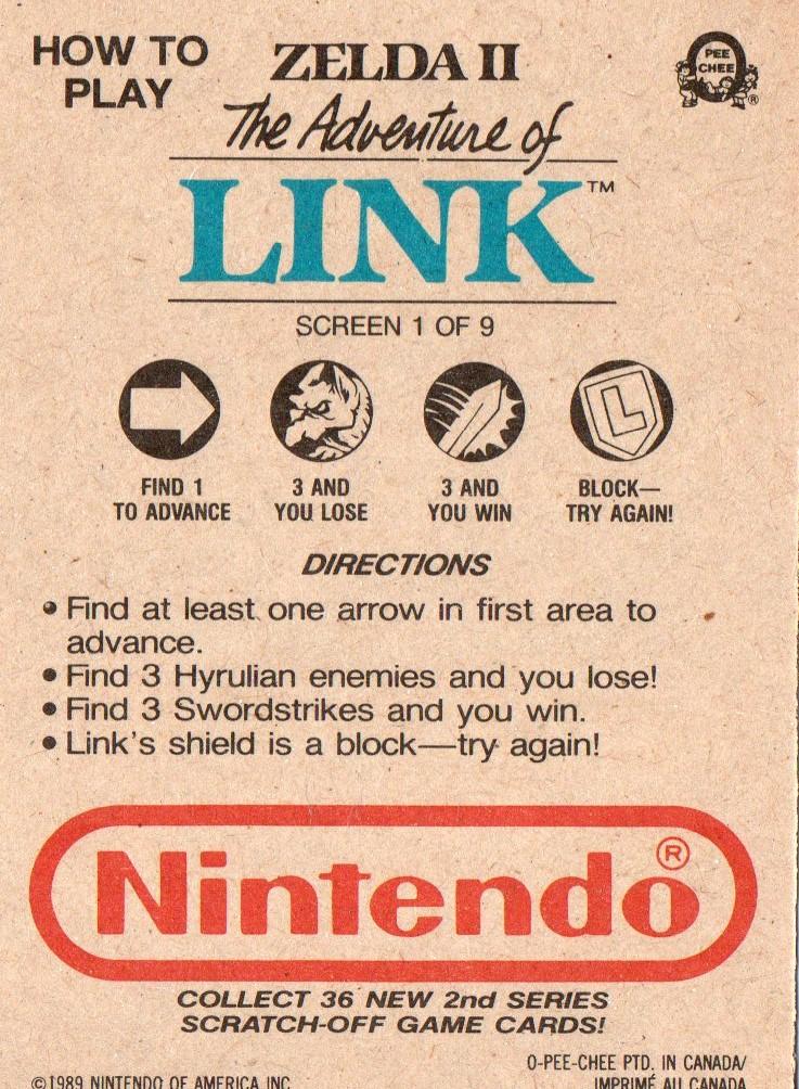 The Legend of Zelda - Rubbelkarte