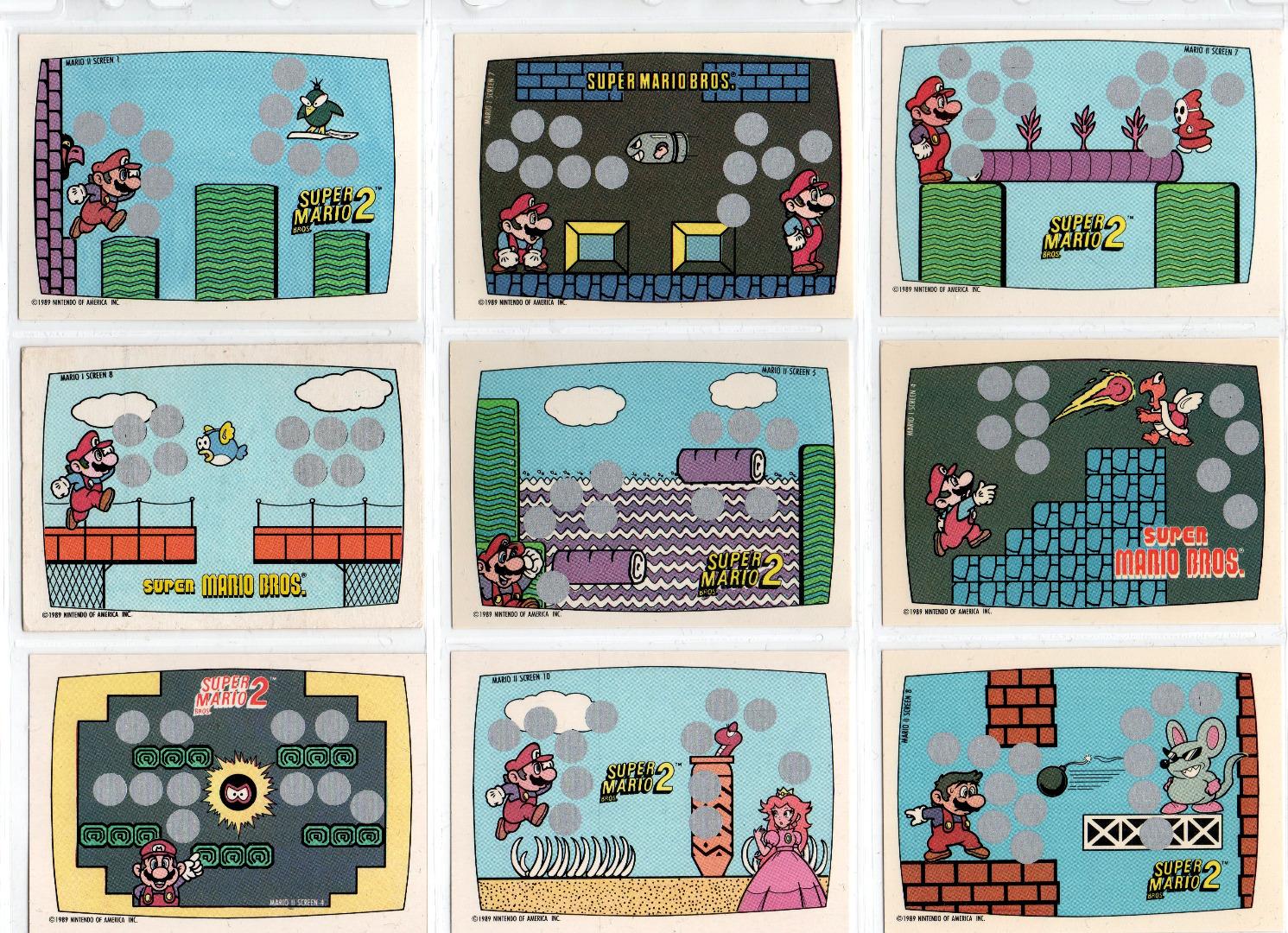 Super Mario Bros Rubbelkarten