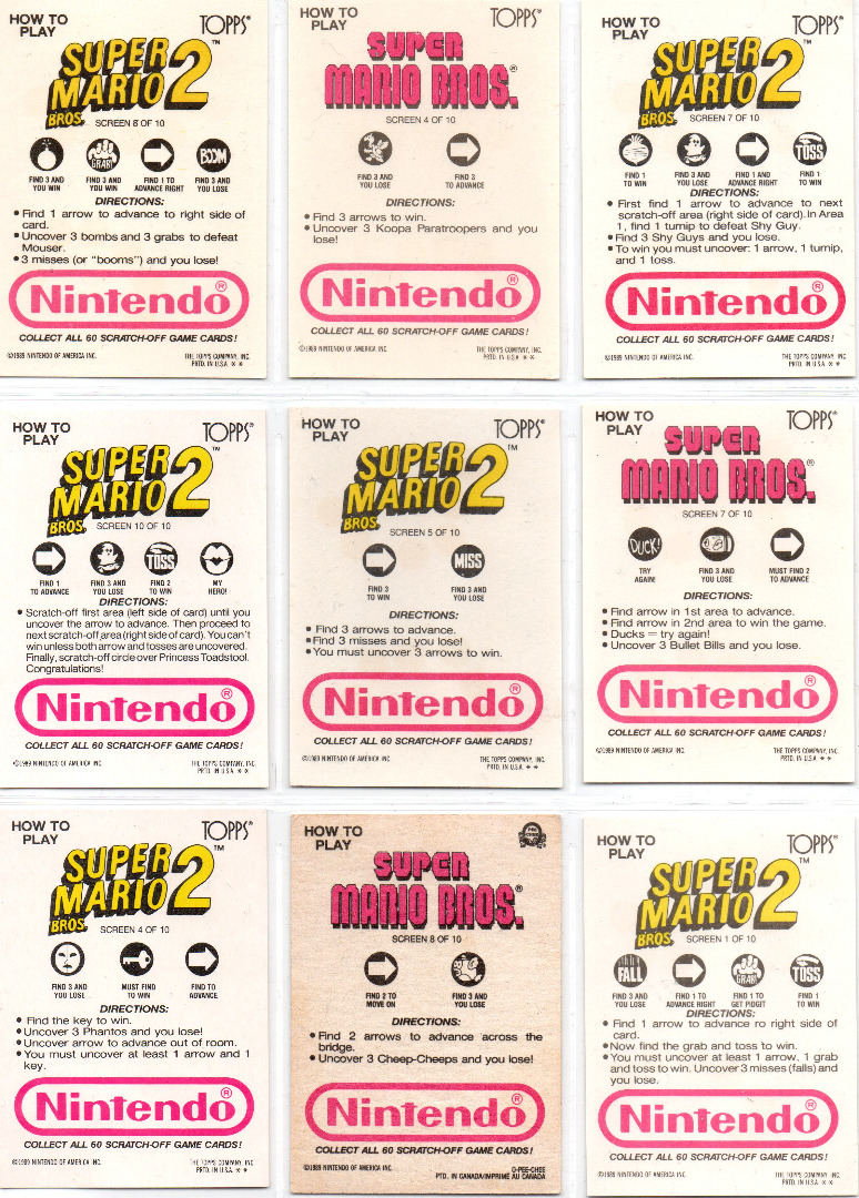 Super Mario Bros Rubbelkarten 2