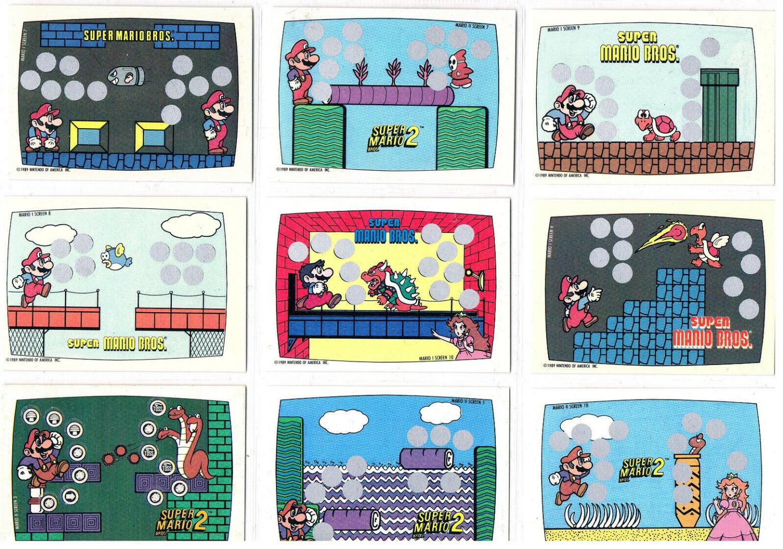 Super Mario Bros Trading Cards Rubbelkarten