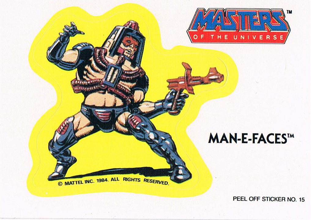 Man-E-Faces Sticker von Topps