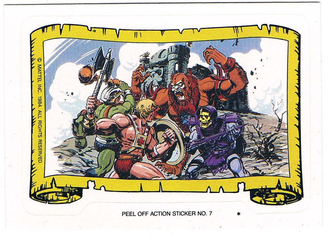 Sticker He-Man Man-At-Arms vs Skeletor Beast