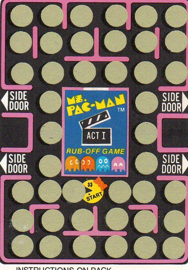 Ms PAC MAN Rubbelkarte Rub-Off Card