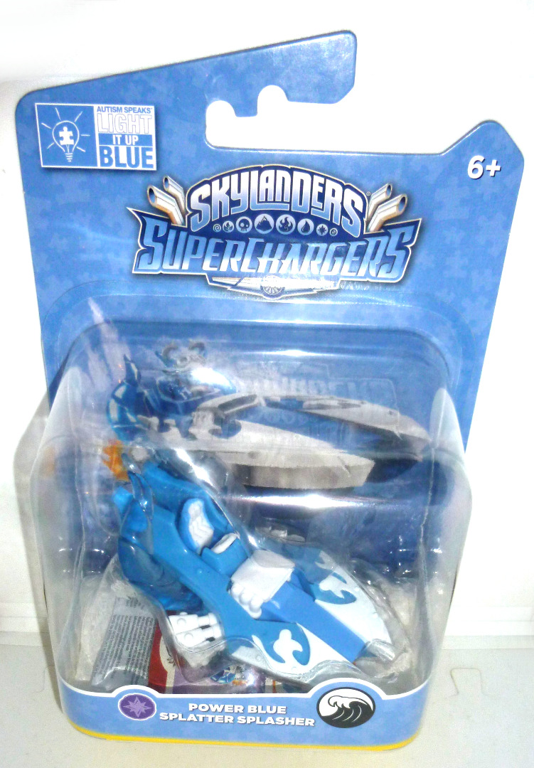 Power Blue Splatter Splasher OVP MOC