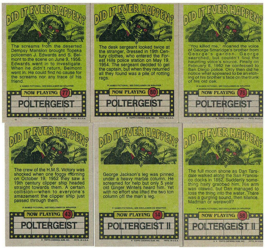 Poltergeist - 6x Trading Cards /