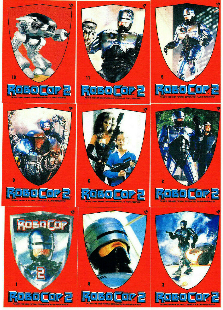 Robocop 2 - 9x Sticker -