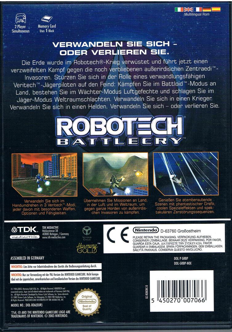 Nintendo GameCube - Robotech: Battlecry 2