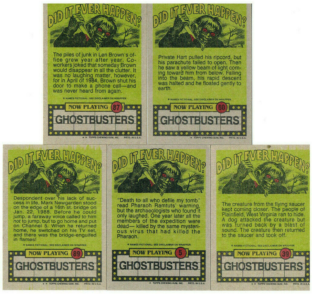 Ghostbusters - 5x Trading Cards 2