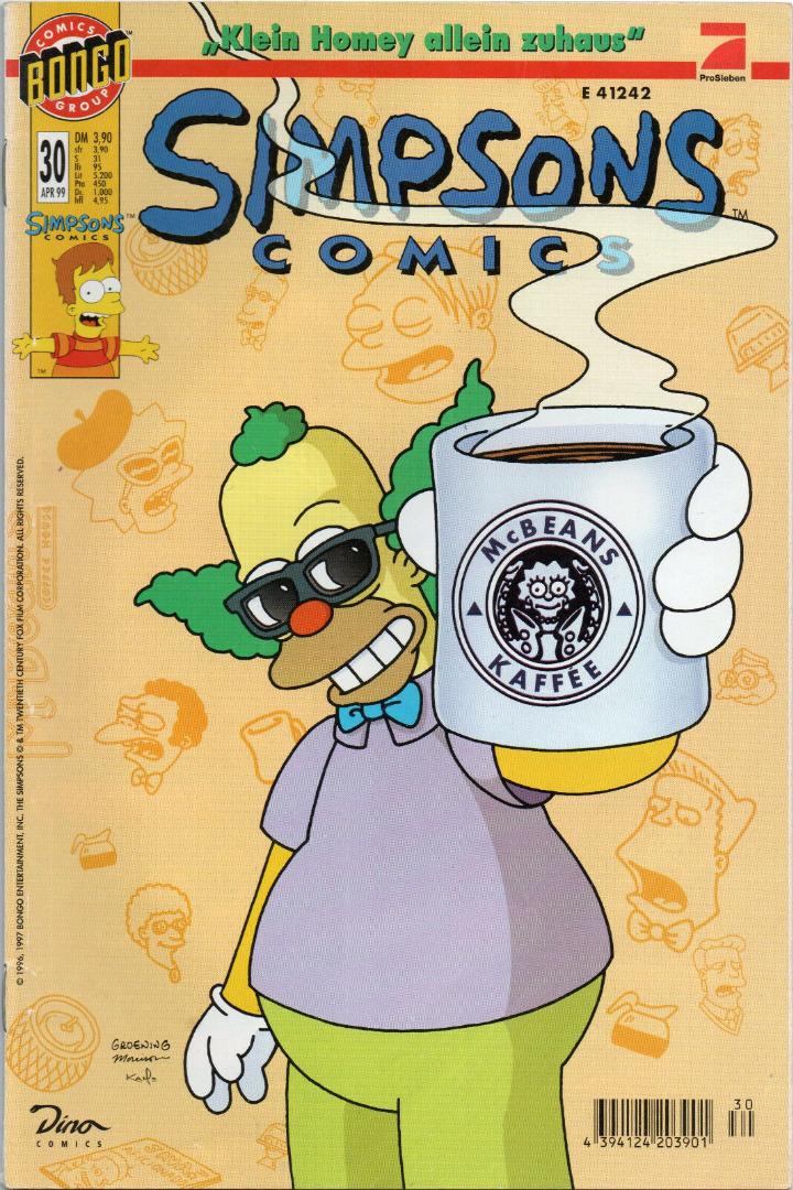 Simpsons Comics April Ausgabe Dino Comics