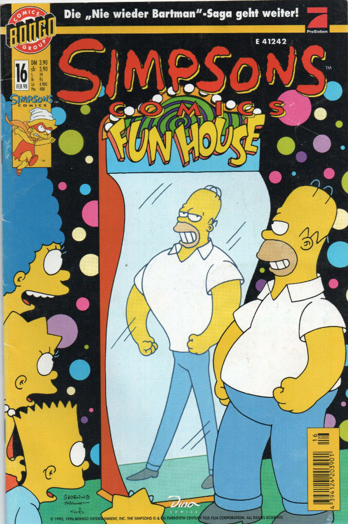 Simpsons Comics Februar Ausgabe Dino Comics